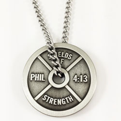 Phil 4:13 Weight Plate -Antique Finish