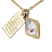 Gold Diamond Mustard Seed Necklace