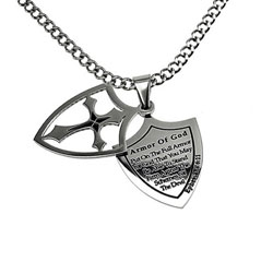Full Armor of God 2 Piece Shield Necklace