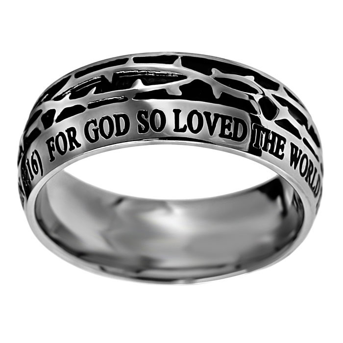 John 3:16 Crown of Thorns Ring - D-ST-COT-J316