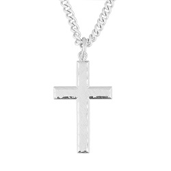 Mens christian necklaces cross necklaces nail necklaces more engraved cross necklace aloadofball Gallery