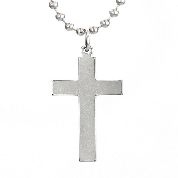 Cross Military Necklace (#GIJ-10102W) | Men's Necklaces on ...