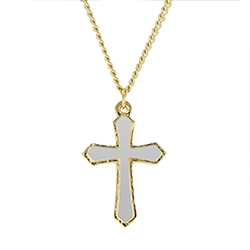 Two-Tone Textured Edge Cross