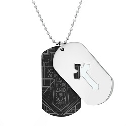 For God So Loved the World Cutout Cross Dog Tag Necklace