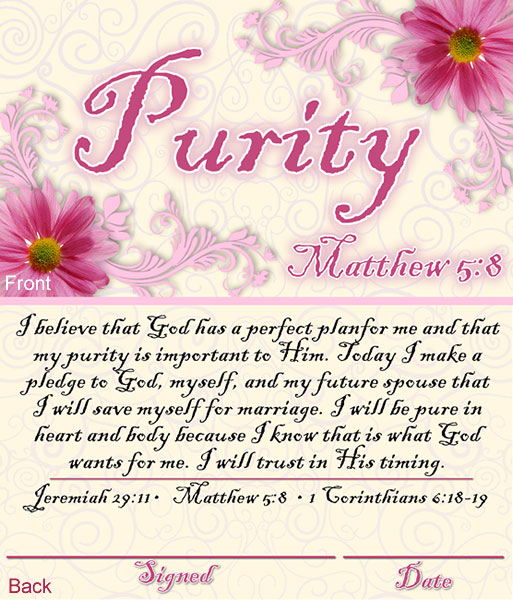 Purity commitments dating christian