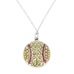 Crystal Softball Necklace