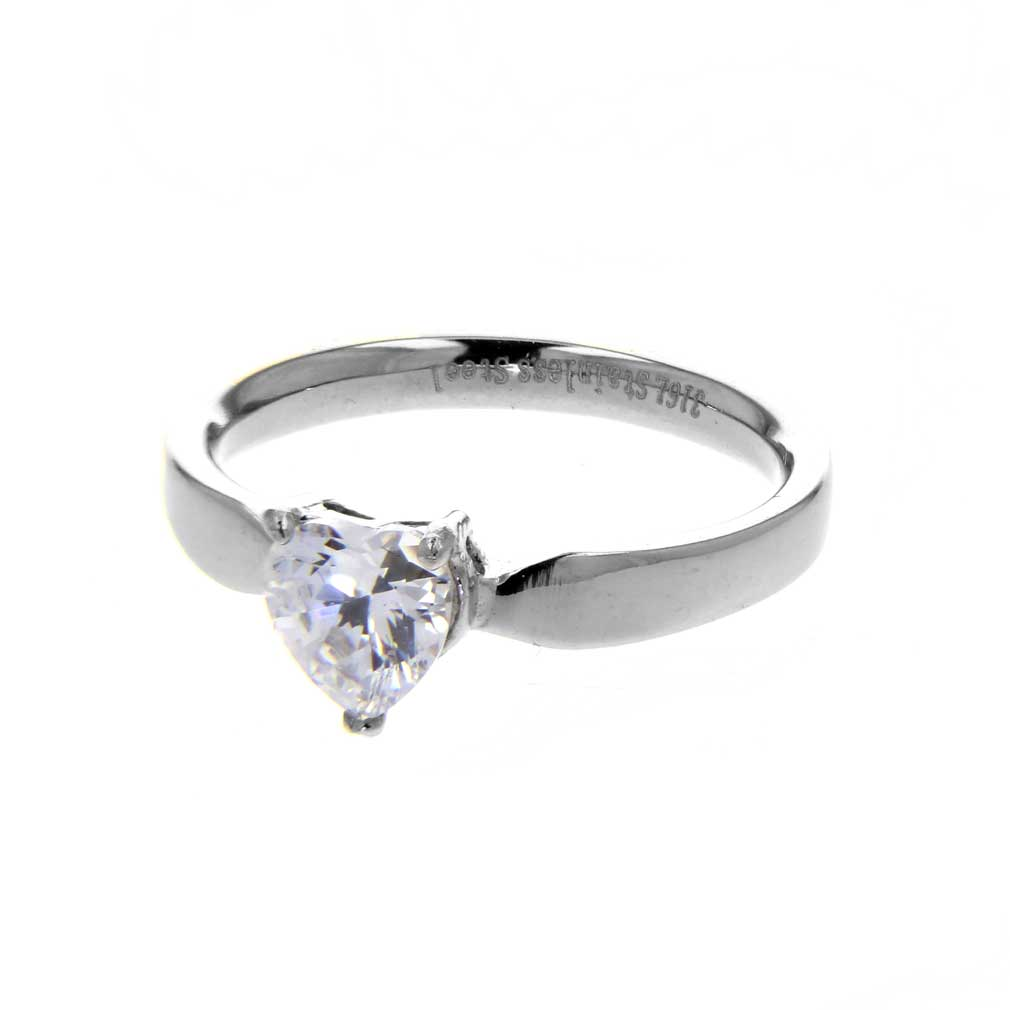 Solitaire Heart Ring - ST-RNGK15