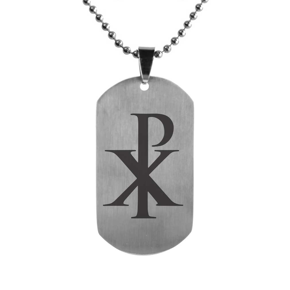 Chi Rho Dog Tag Fp Dtg15185 Dog Tag Necklaces On