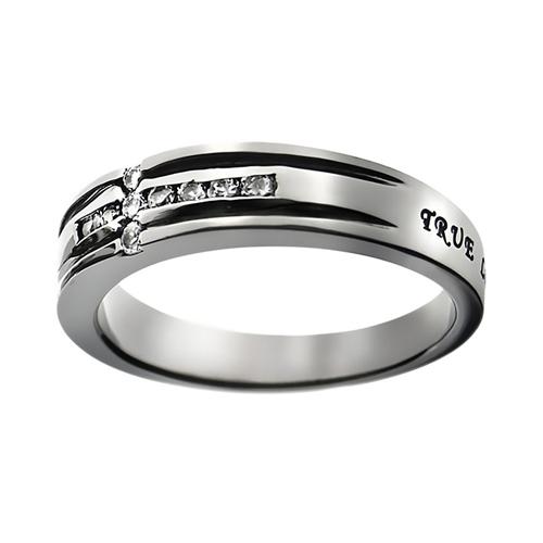 True Love Waits Cross Ring