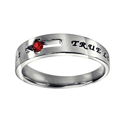 True Love Waits Birthstone Solitaire Ring - January