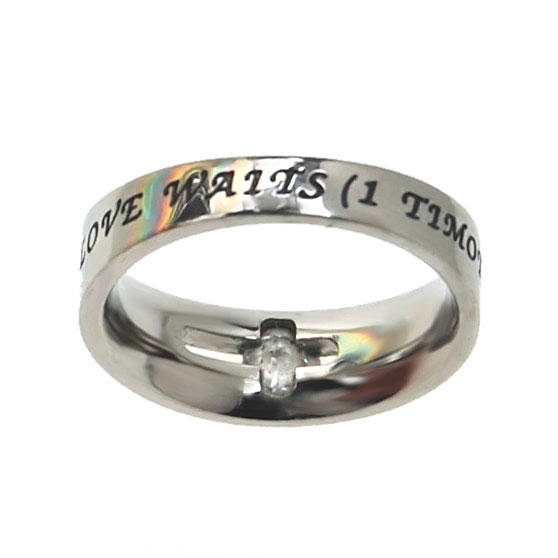True Love Waits Solitaire Ring - ST-SOL TLW