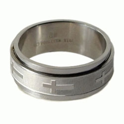 Cross Spinner Ring