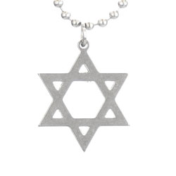 Star of David Military Necklace