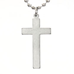 Long Cross Military Necklace