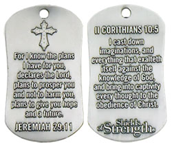 Jeremiah 29:11 Dog Tag