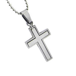Puzzle Cross Necklace
