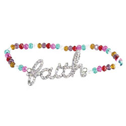 Multi Color Faith Beaded Bracelet