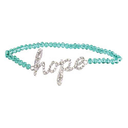 Blue Zircon Hope Beaded Bracelet