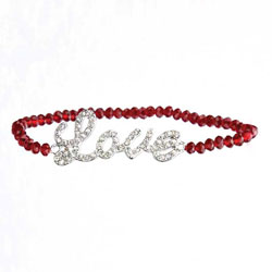 Red Love Beaded Bracelet