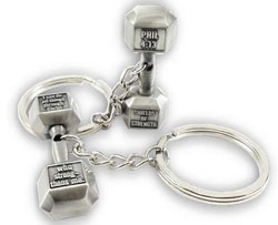 Phil 4:13 Dumbbell Keychain