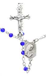 Babys First Rosary - Sapphire Fire