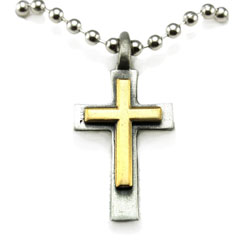Man of God 2 Tone Cross Necklace
