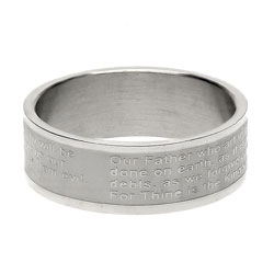 Lords Prayer Ring Band