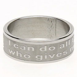 Philippians 4:13 Ring Band