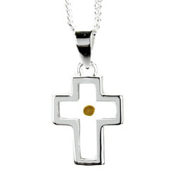 Cross Mustard Seed Necklace