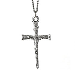 Crucifix Oxid Nail Cross Necklace