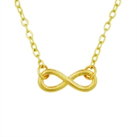 Gold Mini Infinity Necklace infinity necklace, gold infinity necklace, christian necklace