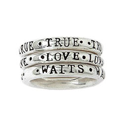 Stackable True Love Waits Ring