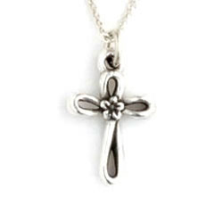 Flower Open Cross Necklace