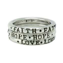Stackable Faith Hope Love Ring