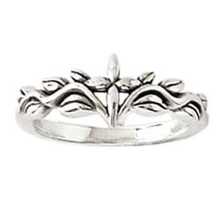 Vine and Leaves Cross Ring