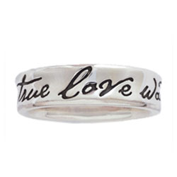 Concaved True Love Waits Ring