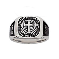Signet Micah 6:8 Cross Ring