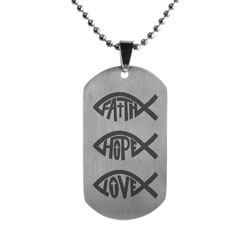 FHL Ichthus Stack Dog Tag