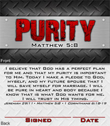 Guys Purity Commitment Card