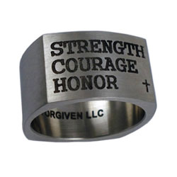 Strength, Courage, Honor Ring