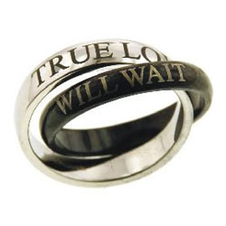 Black and Silver True Love Ring