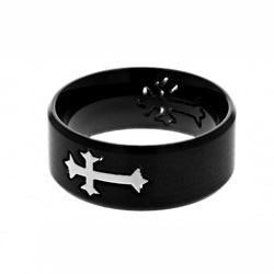 Black Neo Cross Ring