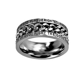 Man of God Chain Ring
