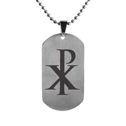 Chi Rho Dog Tag
