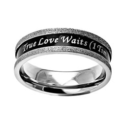 True Love Waits Ebony Champagne Ring