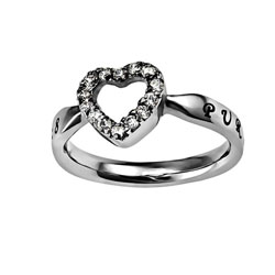 Purity Open Heart Ring