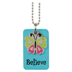 Believe Blue Charm Dog Tag