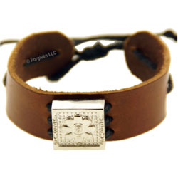 Leather Bracelet Flower