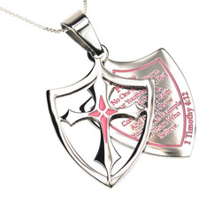 Purity 2 Piece Shield Necklace