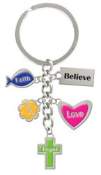 Christian Charms Keyring